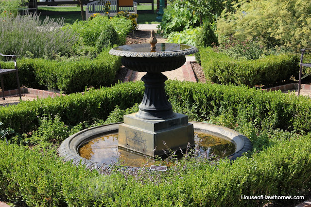 Fountain at the Franklin Park Conservatory Community Garden