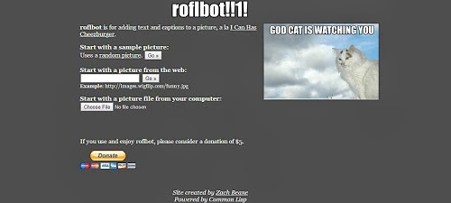 Image Creation Ideas: Roflbot