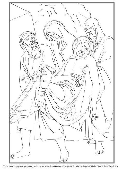 La sepultura de Jesús colorear