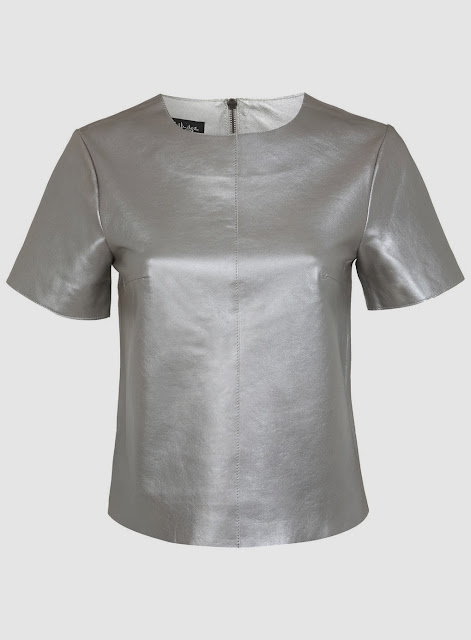miss selfridge silver top