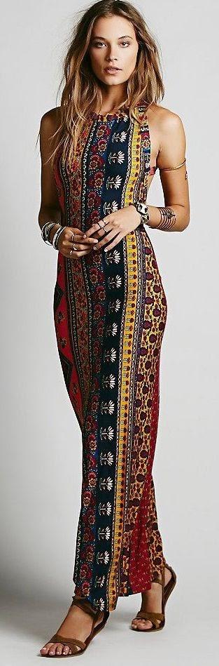 Midnight Rambler Maxi Dress Fashion