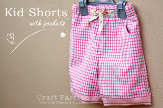 kids shorts with pockets