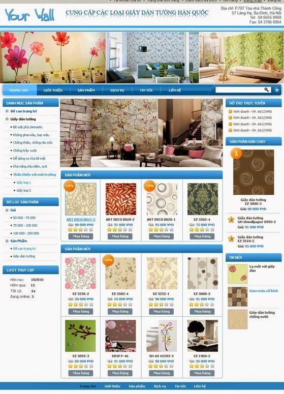 thiết kế web bán hàng bàn ghế đẹp