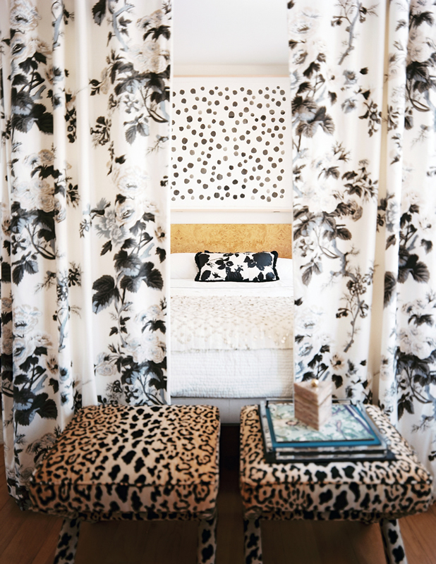 Leopard Print Bed Curtains