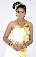 Sun TV anchor Sandra Jose Onam Special still