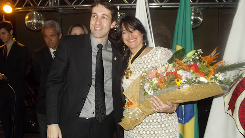 Presidente do Sindicato da Polícia Federal Renato Deslandes e Marta Lança
