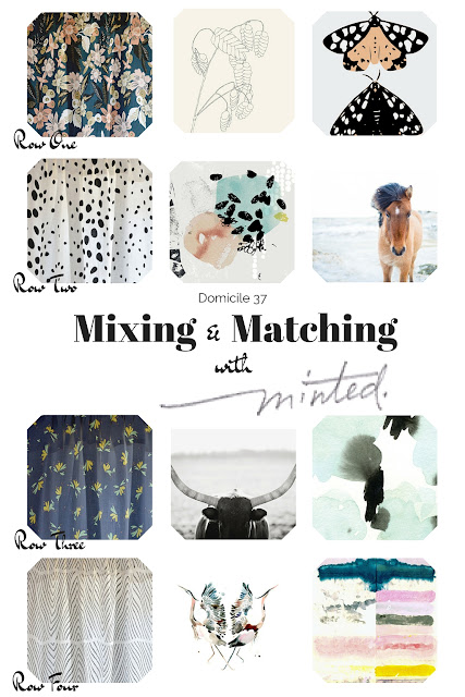 A curtain and art roundup of some of my favorite Minted products