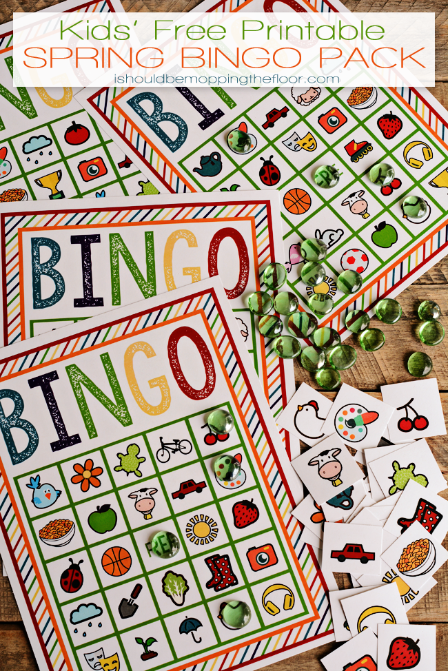 Free Printable Spring Bingo Pack | Four Boards and Key | Instant Downloads