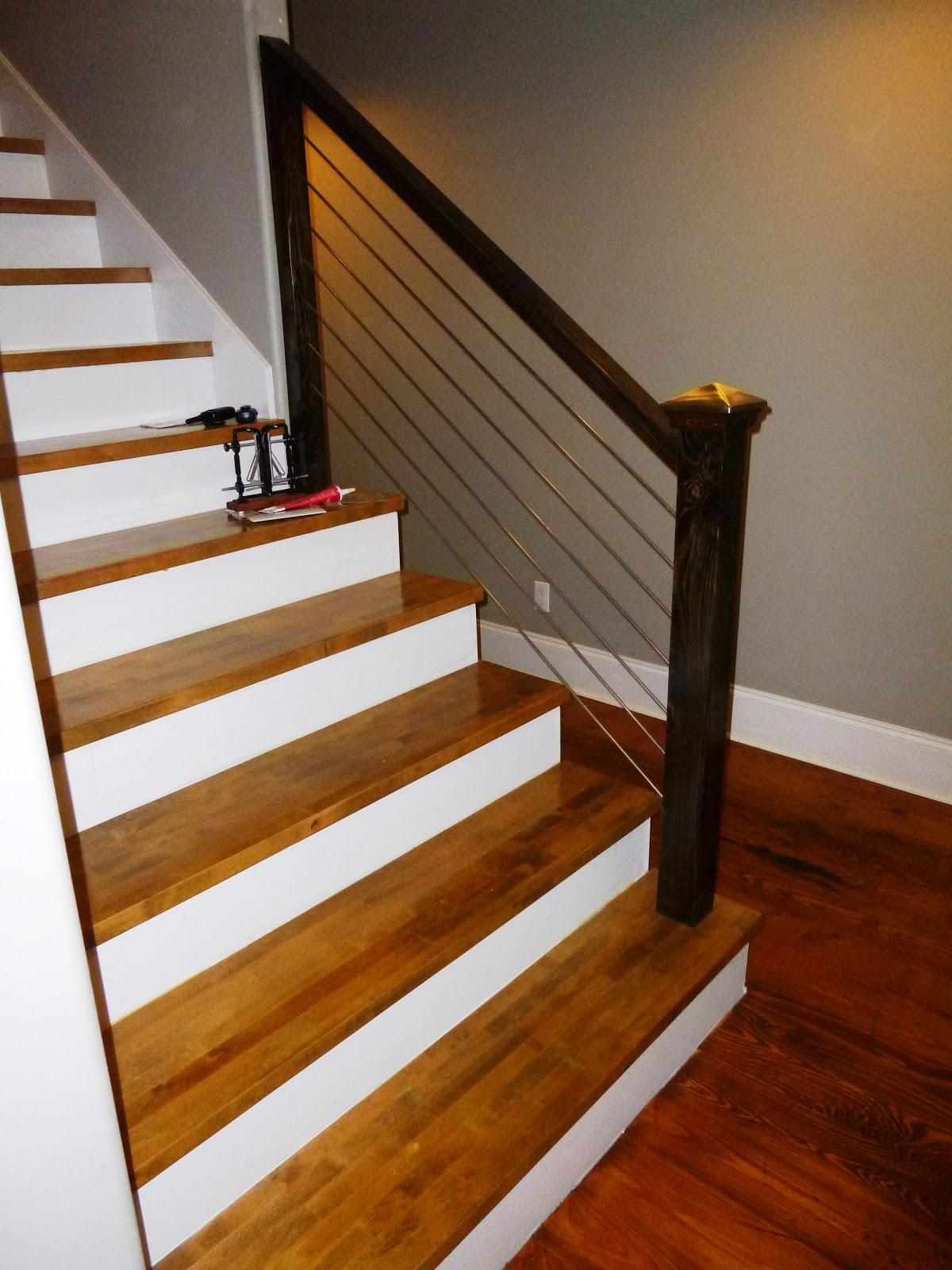 Butcher Block Stair Treads