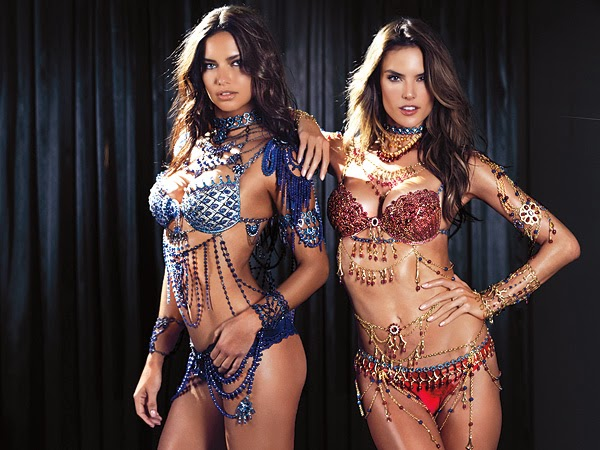 Alessandra Ambrosio and Adriana Lima to wear the 2014 Victoria's Secret Fantasy Bras