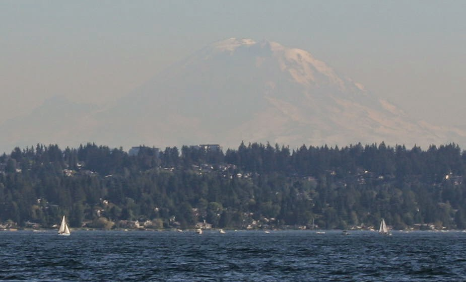 Sailing in the shadow of Mount Rainier