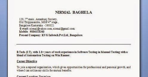 Current Resume Templates