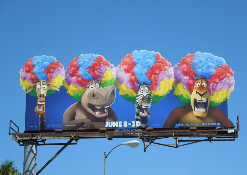 Madagascar 3 special extension movie billboard