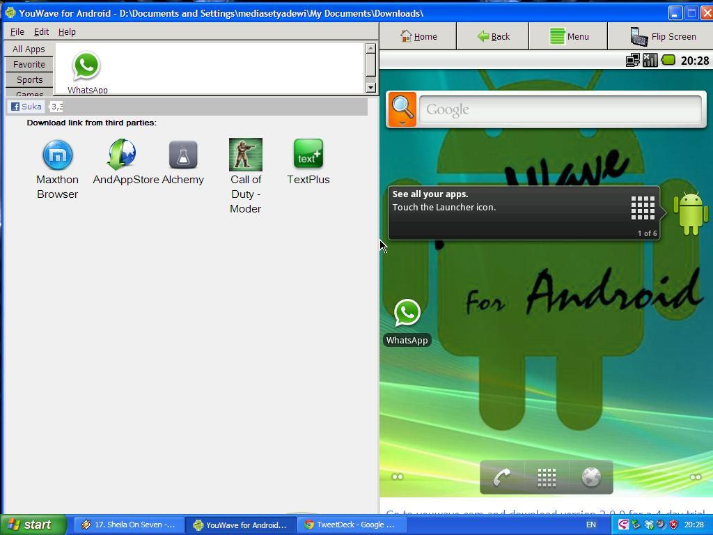Penggunaan Whatsapp Pada Laptop/PC - Android Emulator