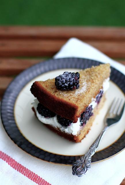 mints & honey: Blackberry maple layer cake