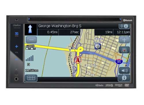 Clarion VX400 6.5-Inch In-Dash Double-DIN Touchscreen DVD/CD/MP3/USB Receiver with Bluetooth
