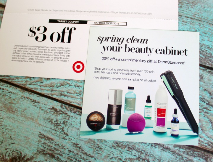 Target Beauty Box Spring 2015 info card coupons
