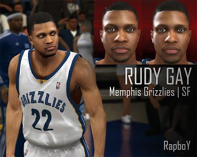 NBA 2K13 Rudy Gay Cyber Face Mods