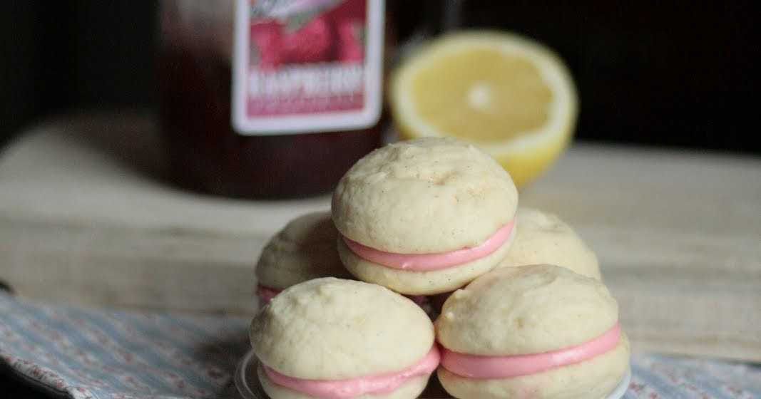 Indigo Scones: Raspberry Lemon Cream Cheese Whoopie Pies