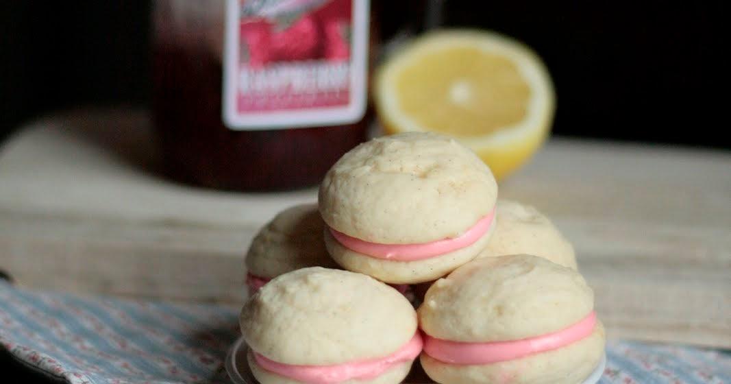 Indigo Scones: Raspberry Lemon Cream Cheese Whoopie Pies