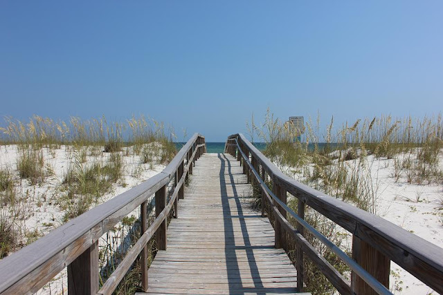 10th Ave. boardwalk picture on Pensacola Beach Florida