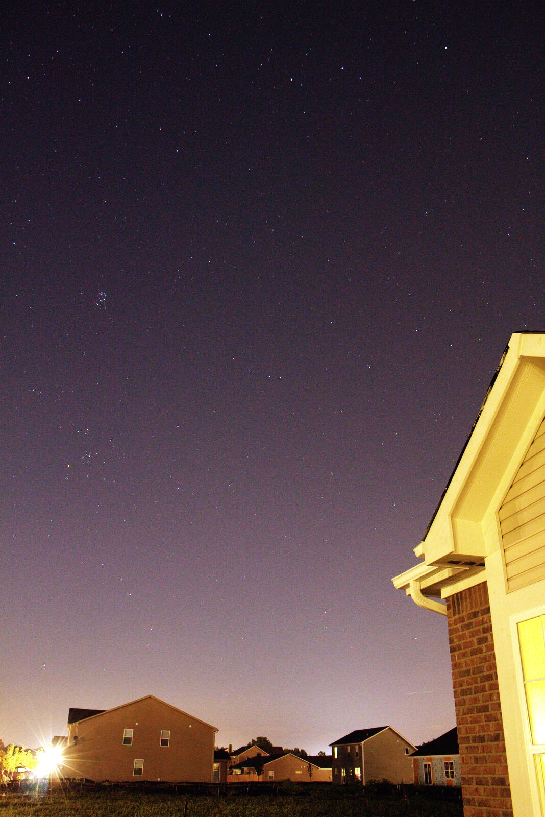 night sky in noblesville