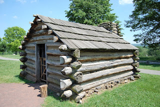 soldiers hut at Valley Forge