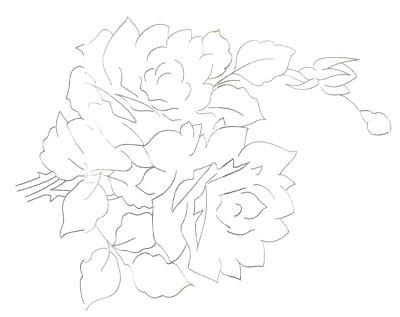 Riscos para Pintura em Tecido Rosas