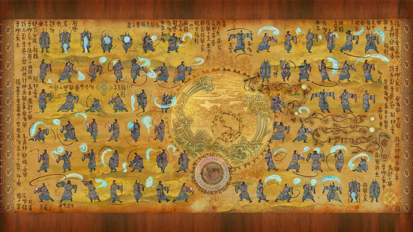 Avatar: The Last Airbender HD Widescreen Wallpaper of Waterbender Scrolls