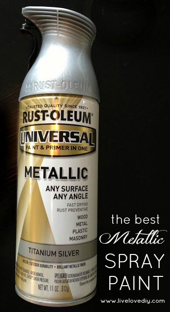 Rustoleum Titanium Silver Spray Paint - creates the most realistic 'brushed nickel' finish!