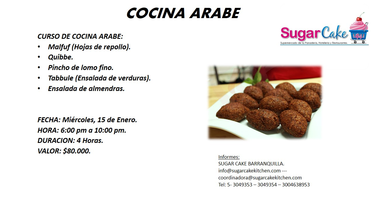 Sugar cake kitchen colombia 2014 01 12 for Utensilios de cocina arabe