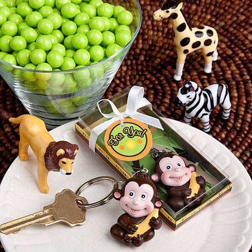 Jungle Critters Monkey Keychain Favors