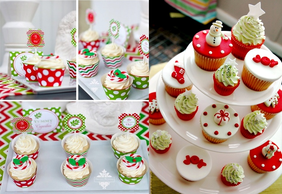 cupcakestands252cchristmaspartycupcakes - Christmas Party Desserts