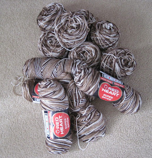 brown variegated yarn
