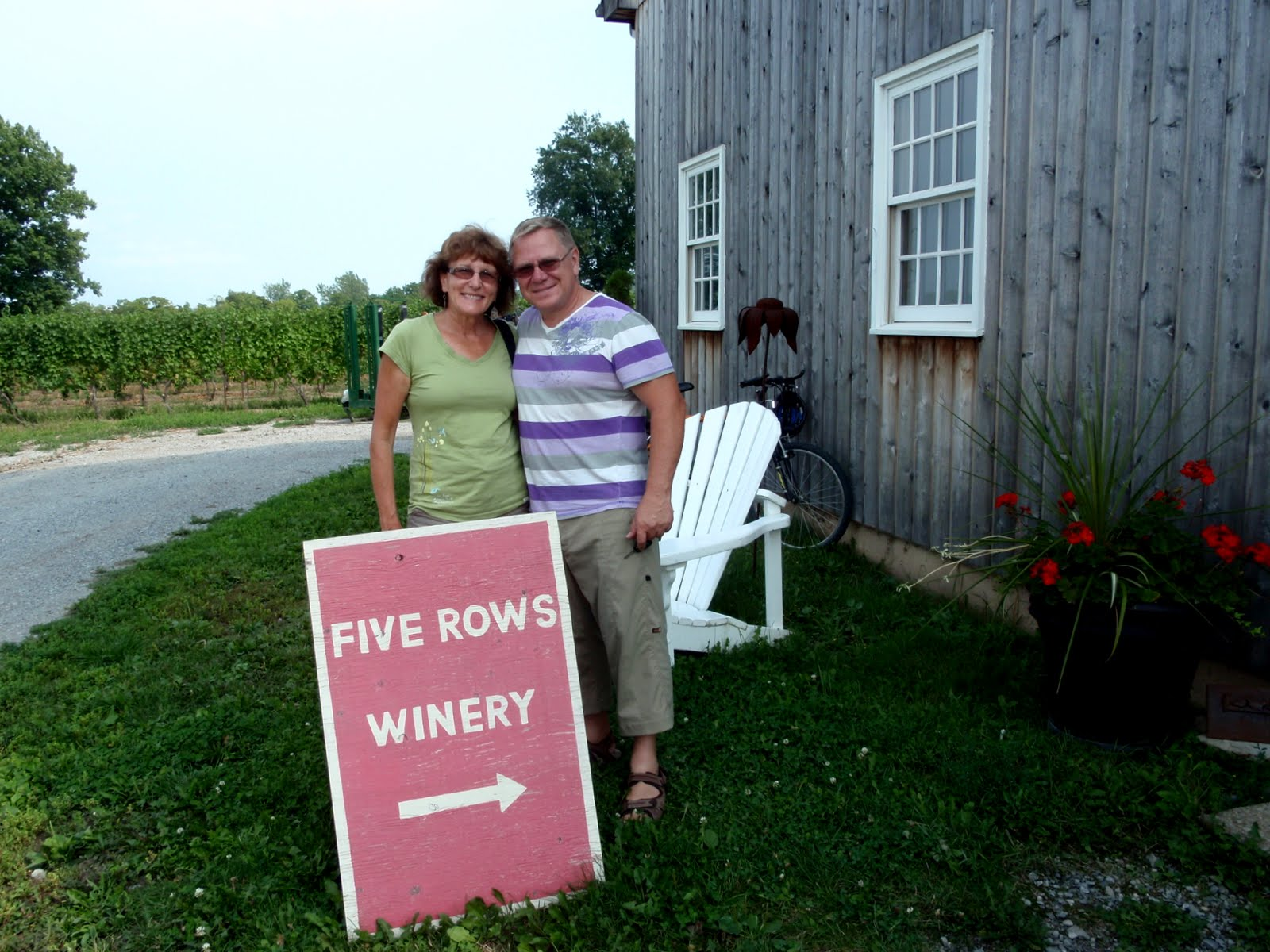 Liz and Anders at Five Rows Winery