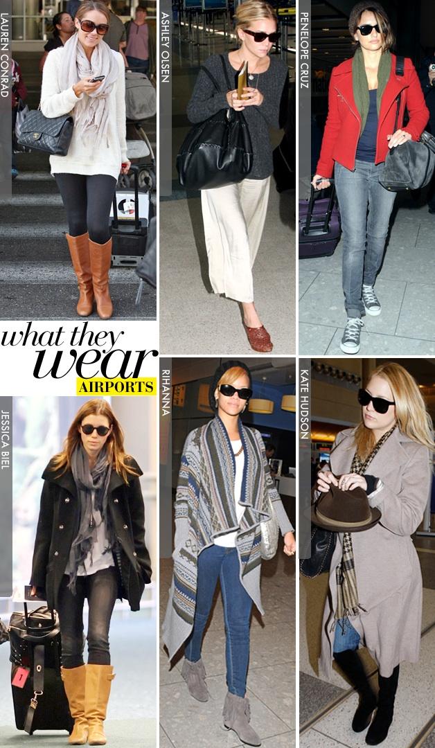 Fashionista 06340 Celebrity Airport Style Kim Kardashian Victoria Beckham Eva Mendes Cheryl