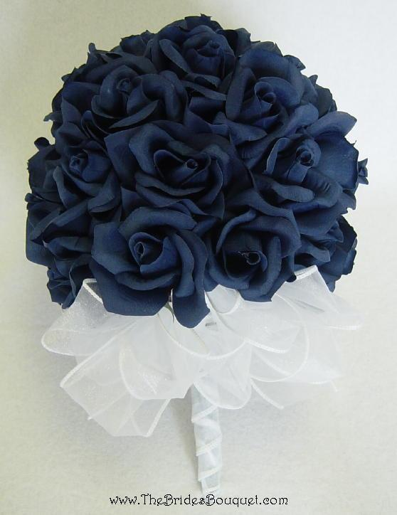 best wedding flowers navy blue wedding flowers