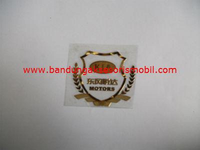 Emblem Alumunium Kotak Kecil Logo Mobil Kia