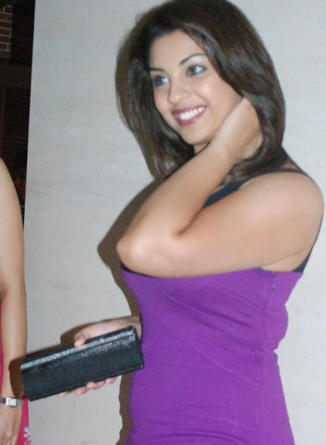 Richa Gangopadhyay in Purple Dress Short Skirt Photo