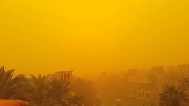 Photos: Sandstorm in Dubai puts it in sepia, #NoFilter