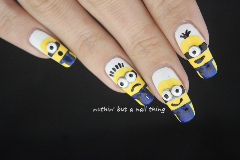 Nuthin but a nail thing 40 great nail art ideas cartoons and minion despicable me nail art prinsesfo Gallery