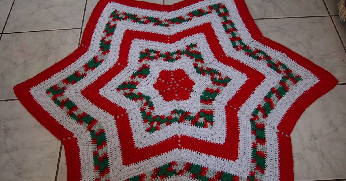 os croches da elsa ideias para o natal 4   tapete estrela de natal