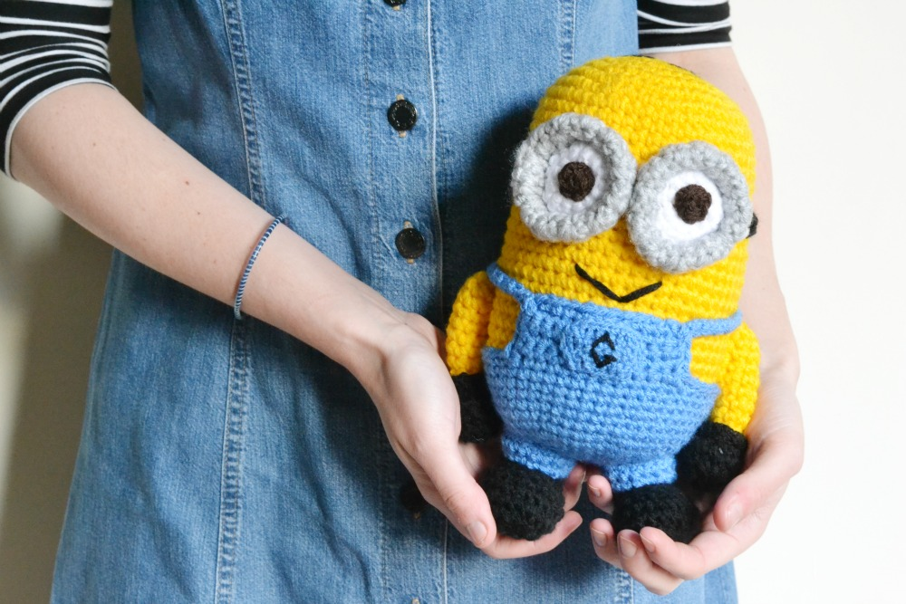 crochet minion dungarees dress pinafore denim vintage