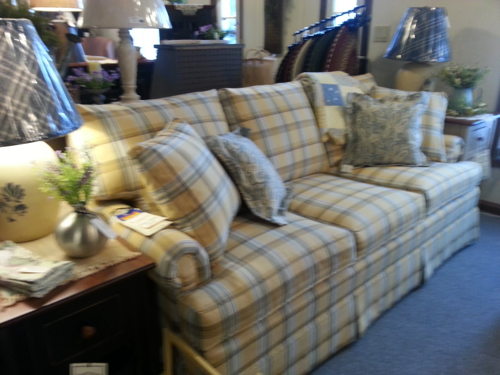 Yellow Plaid Sofa