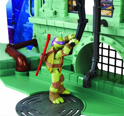 TOYS - LAS TORTUGAS NINJA - Playset de Alcantarilla Secreta  Teenage Mutant Ninja Turtles | Secret Sewer Lair Playset  Juguete Oficial | A partir de 4 años | Figuras no incluídas