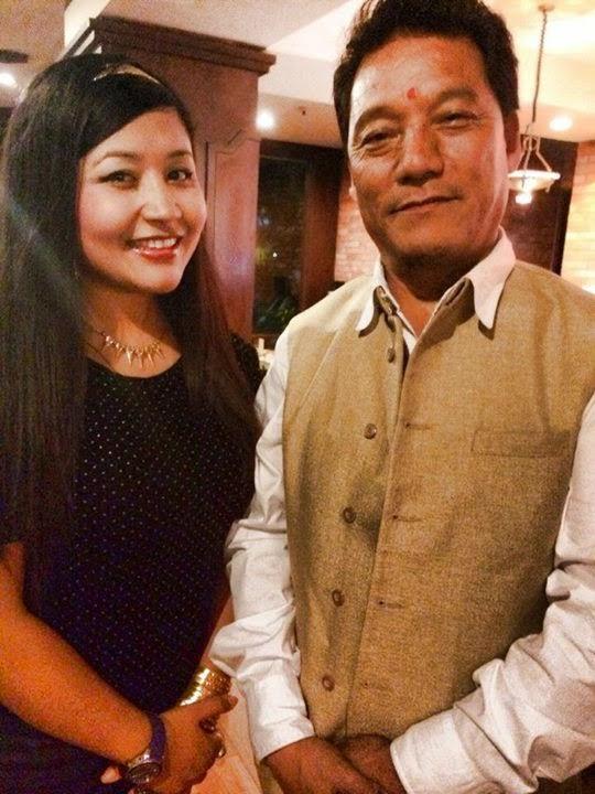 Bimal Gurung with Aastha Raut in Kathmandu