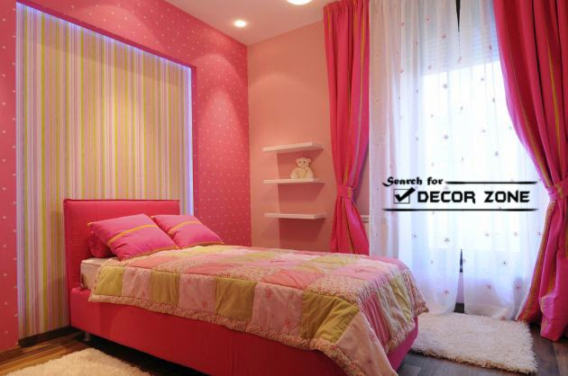 Glamorous Pink Colour Bedroom Pictures Inspiration Design Of