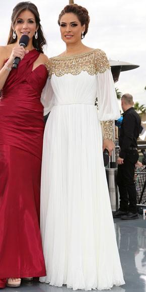 el elegante vestido rojo de galilea montijo que la hizo robar miradas en premio lo nuestro s closet november 2012