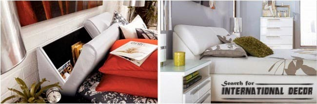 Headboard For Storage Organizing Small Apartment Space Saving Ideas