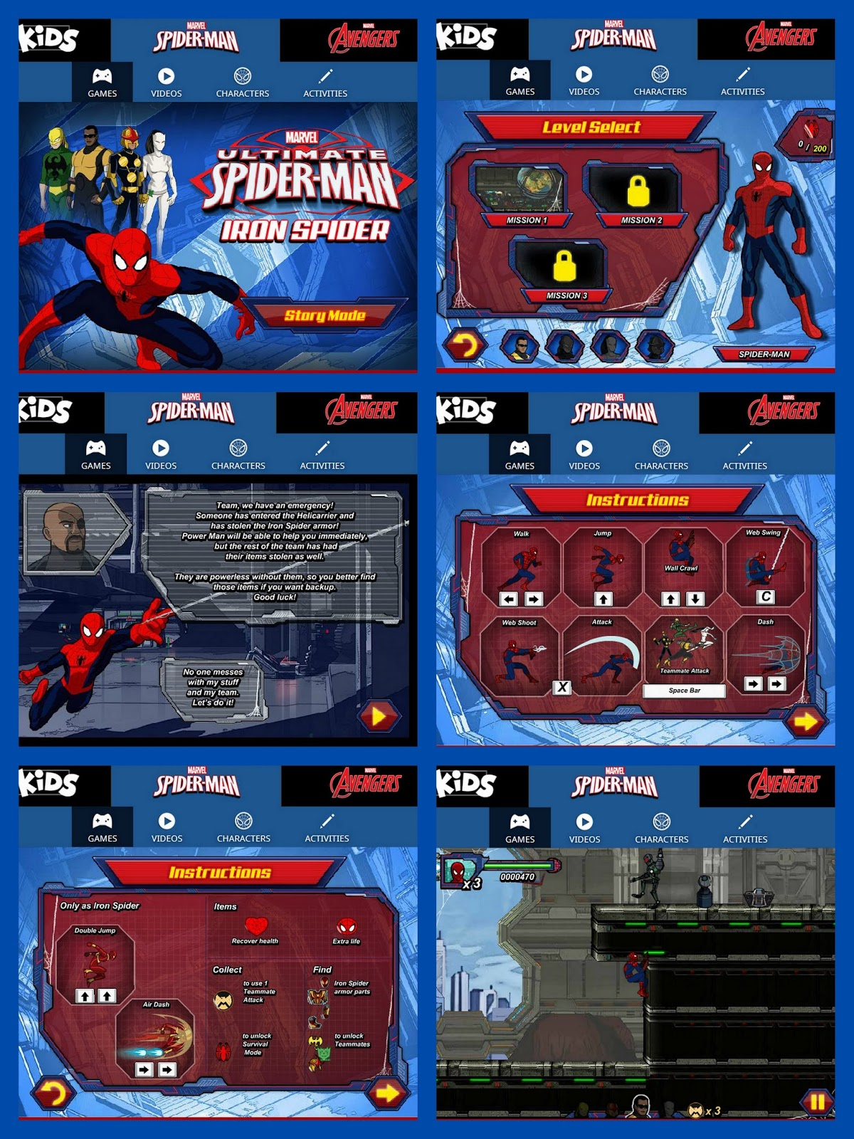 Free Spiderman games